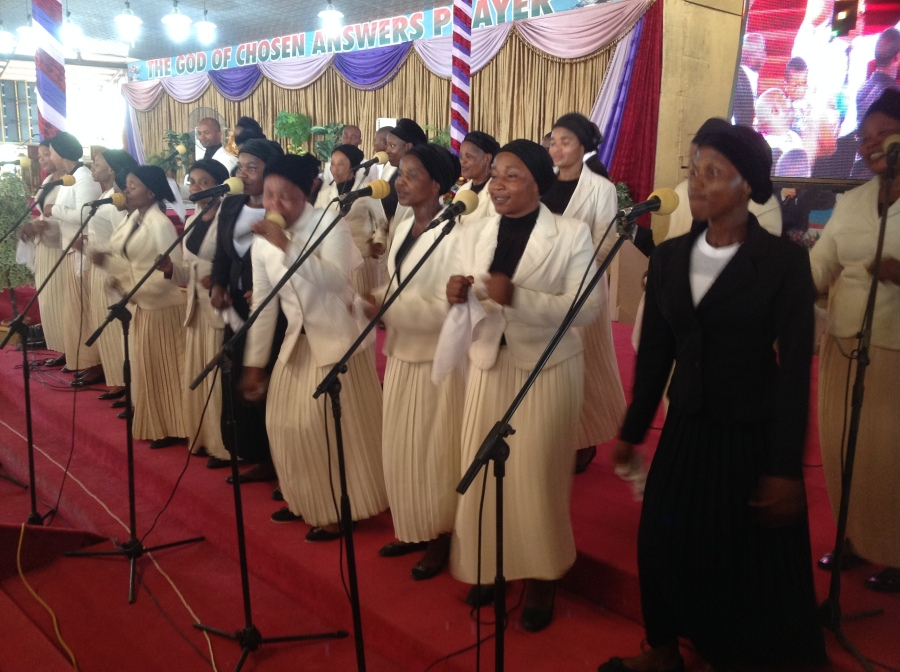 The PRO group of the Lord's Chosen Charismatic Revival Movement ministering to the glory of God as celebration of the 14 years of its existence gets even hotter