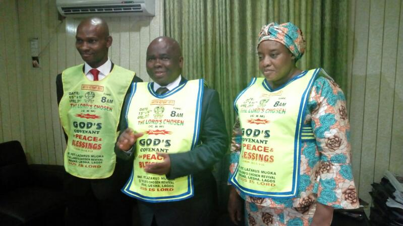 G.O, Wife of the G.O, Mummy Joy Muoka and the Lagos state Coordinator, Pastor Dozie