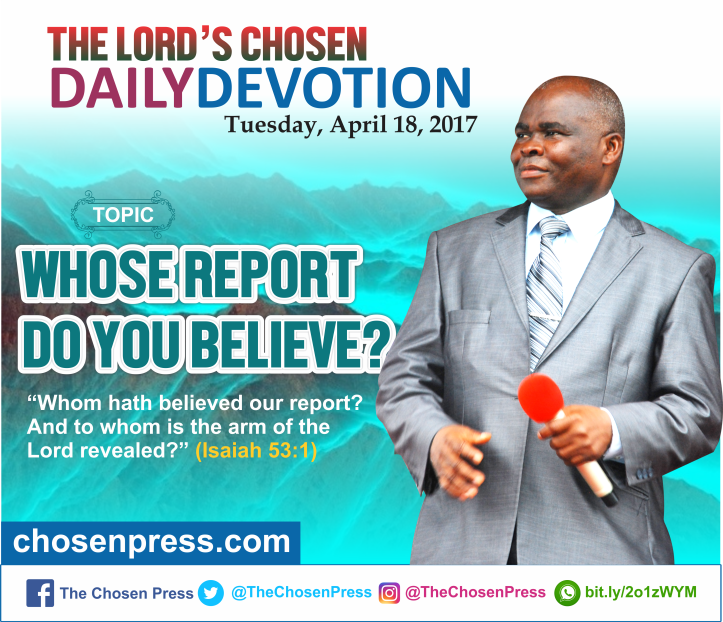 Daily Devotion: Whose report do you believe?