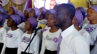 Youth Choir Ministering 4