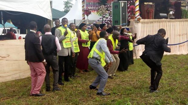 Chorus leaders dancing
