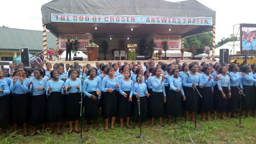 The Chosen Youth Choir Ministering at Ihitte 2017 crusade