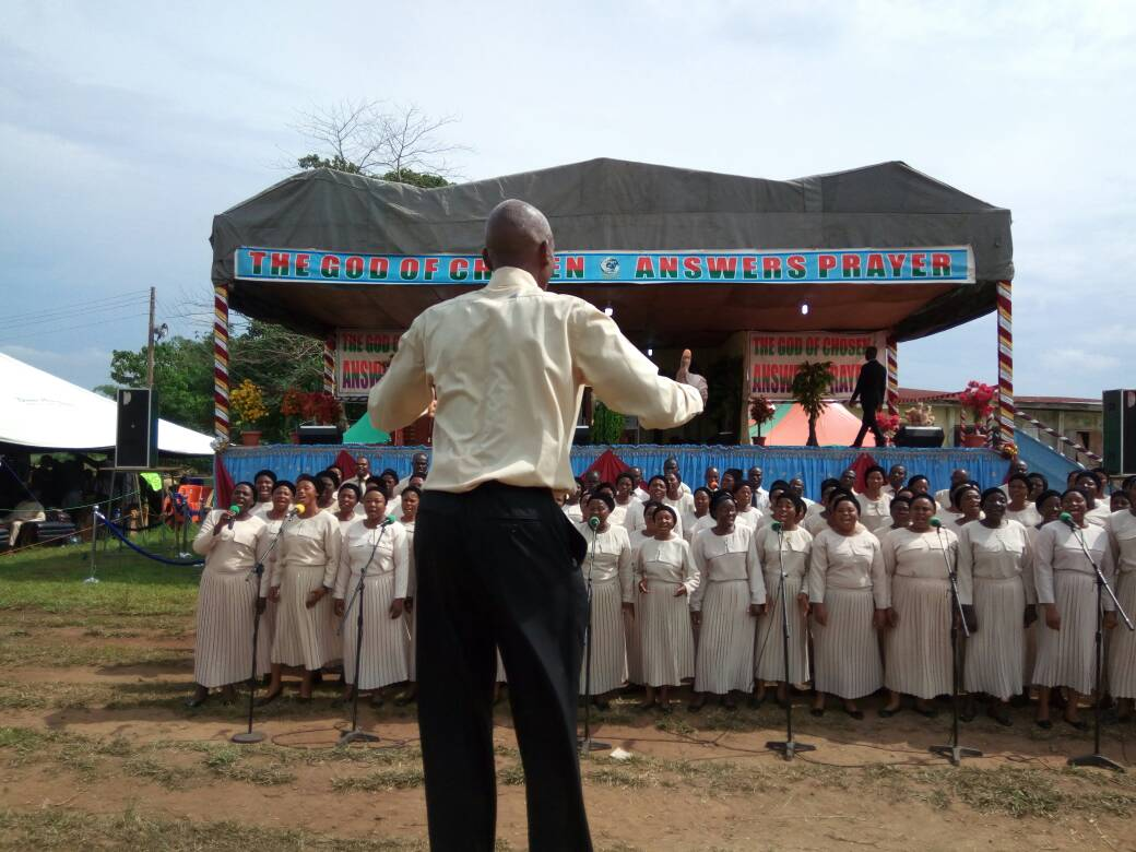 The Chosen Central Choir ministering to the congregation 3