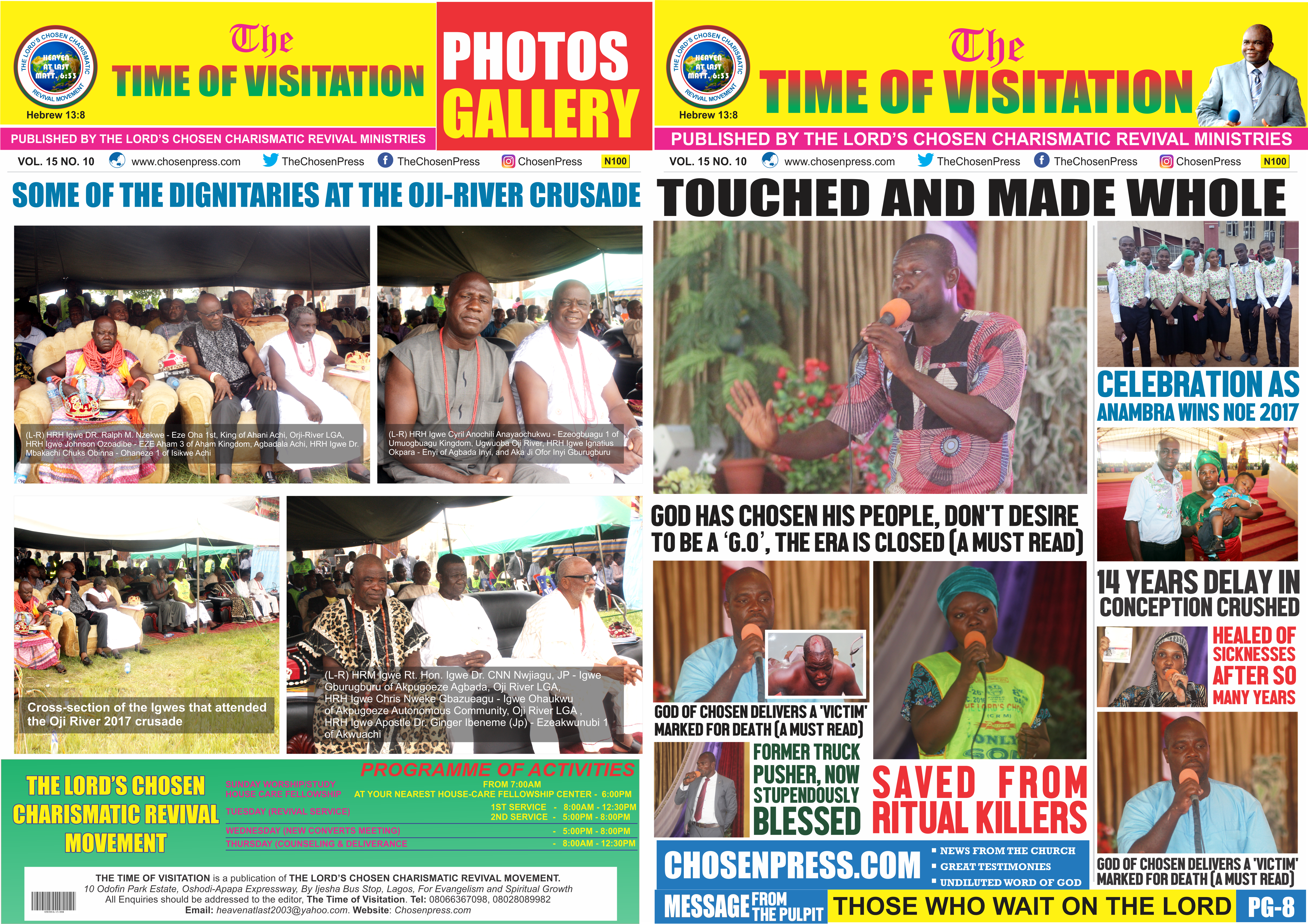 BABY AFTER 14 YEARS, SAVED FROM RITUAL KILLERS – TOP TESTIMONIES ON TIME OF VISITATION VOL. VOL. 15 NO.