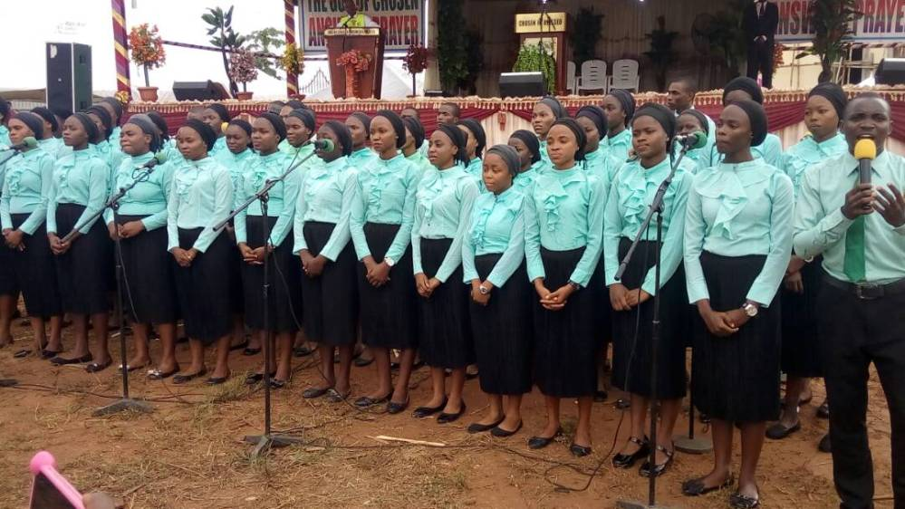 The Lord's Chosen Campus Fellowship Ministering to the congregation