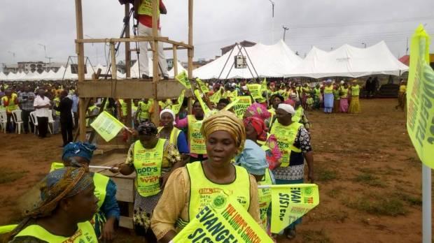 Chosen Evangelist sisters rejoicing in God's presence